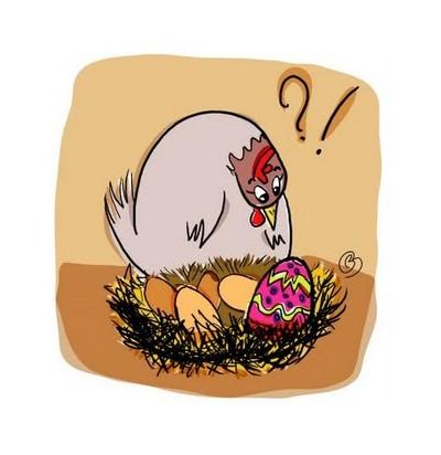 poule à l' oeuf de pâques