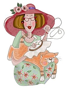 chat-chapeau-rose