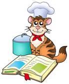 chat livre cuisine