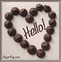 chocolate heart hello