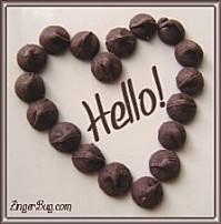 chocolate heart hello