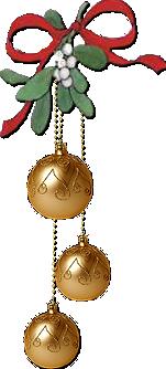 Boules +nœud Noël