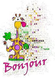 Bonjour girafe